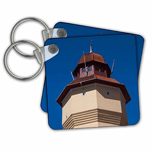 Danita Delimont - Architecture - Denmark, Nykobing Falster, Old Water Tower - Key Chains - set of 2 Key Chains - Water Images Tower