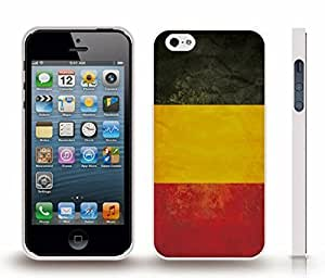 iStar Cases? iPhone 4 Case with Belgium Flag Distressed Look Design , Snap-on Cover, Hard Carrying Case (White) by ruishername