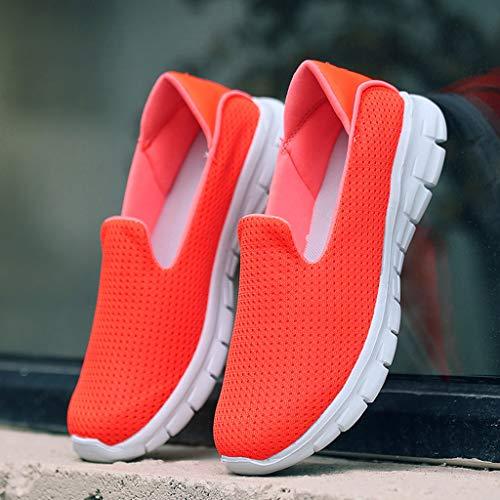 De Sport Kaister Légères Ballerines Et Chaussures Solide Orange Respirantes Mode Féminine Casual w7HFnHq0T
