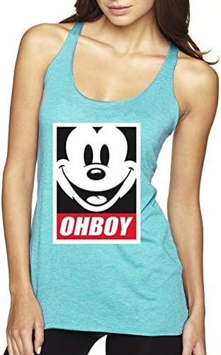 f1200008deb809 Flipboard  New Way 416 - Women s Tank-Top Oh Boy Mickey Mouse Face ...