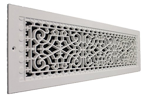SMI Ventilation Products VWM628 Cold Air Return - 6 in x 28 in Victorian Style Wall Mount - Overall Dimensions 8 in x 30 - 8 Overall 8 Inch X