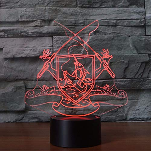 Touch Fyyanm Visual 3d Button Nightlight Usb Led Colorido htdrsQC