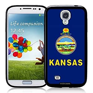Cool Painting Flag of Kansas - Protective Designer BLACK Case - Fits Samsung Galaxy S4 i9500