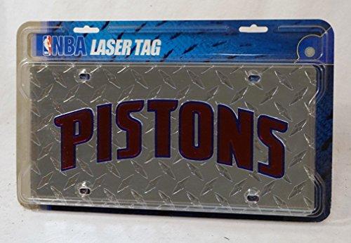 Detroit Pistons Diamond License Plate Laser -