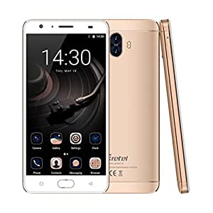 "Smartphone Libre 4G con 6000mAh Batería,Gretel GT6000 Teléfono Móvil Desbloqueado Android 7.0( MTK6737 Quad Core, Dual Rear Cámaras 13MP + 5MP, 2GB RAM + 16GB ROM, Pantalla de 5,5 ""HD IPS, Dual SIM, Carga Rápida, Toque de Huella Dactilar Frontal ID)"