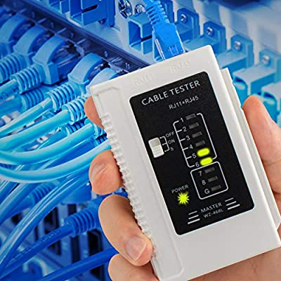 Network Cable Tester RJ45 RJ11 RJ12 UTP LAN Cable Tester Wire Networking Tool(Battery Not Included)