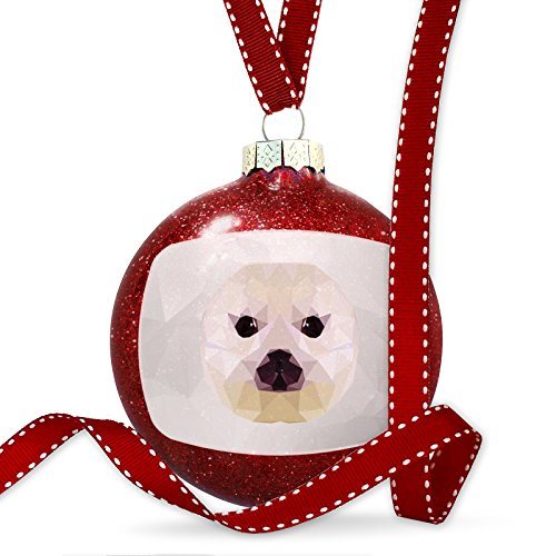 Christmas Decoration Low Poly zoo Animals Baby Seal Ornament by NEONBLOND