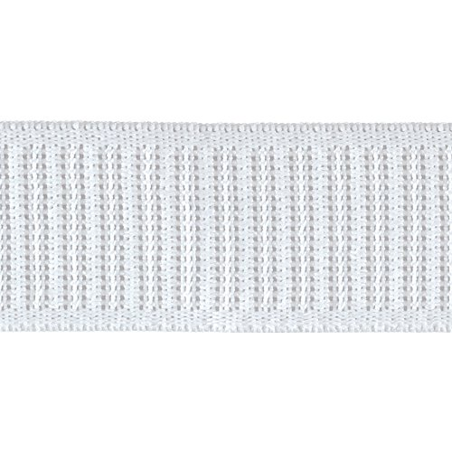 1-1/4'' x 30 Non-Roll Ribbed Elastic White
