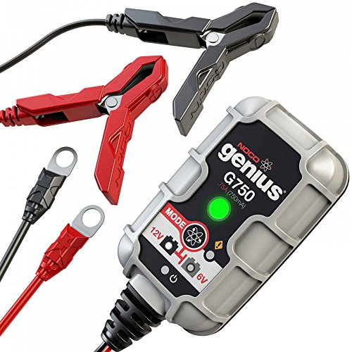 NOCO Genius G750 6V/12V .75 Amp Battery Charger and Maintainer (Motorcycle Battery Tender Charger)