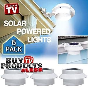 6 Pack Deal - Outdoor Solar Gutter LED Lights - Basic