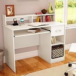 South Shore Study Table Desk Furniture, White