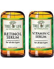 ToLB Anti Aging Serum Two-Pack - 98% Natural, 72% ORGANIC Anti Wrinkle Serum - Vitamin C Serum - Retinol Serum