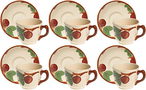 Franciscan Apple Teacups & Saucers Set of 6 ()