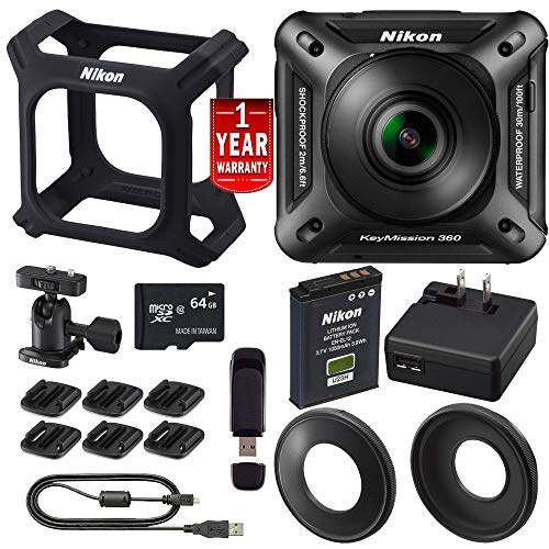 Nikon KeyMission 360 4K Action Camera Bundle International M