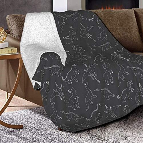 WALL-8-CC Couverture polaire style de vie en forme de dinosaure doux et confortable en microfibre pour lit ou canapé, décoration de la maison