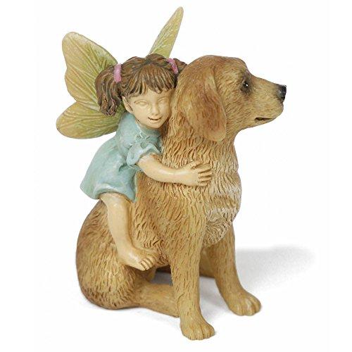 Retriever Golden Statue Garden (Miniature Fairy Garden