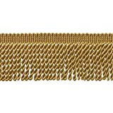 10 Yard Value Pack of GOLD 2.5 Inch Bullion Fringe Trim, Style# EF25 Color: C4 (30 Ft / 9 Meters)