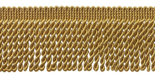 (DecoPro 10 Yard Value Pack of Gold 2.5 Inch Bullion Fringe Trim, Style# EF25 Color: C4 (30 Ft / 9.5Meters))