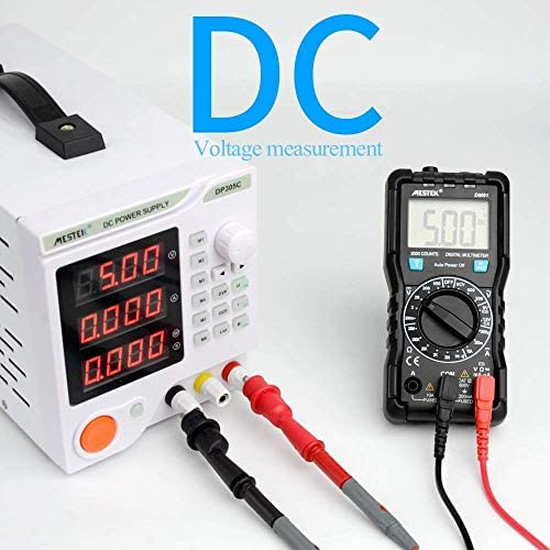 GJNVBDZSF Multimeter Multimeter Precise instrument Digital Multimeter 2000 Counts AC/DC Voltage Multimeters Flash Light Large Screen DM91 Multimetro Te
