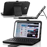 MoKo Bluetooth Keyboard Cover Case for Samsung Galaxy Note 8.0 inch GT - N5100 / N5110 Android Tablet, BLACK