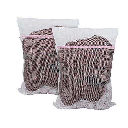 649058a9b10c Vivifying Large Washing Net Bags, Set of 2 Durable Fine Mesh Laundry ...