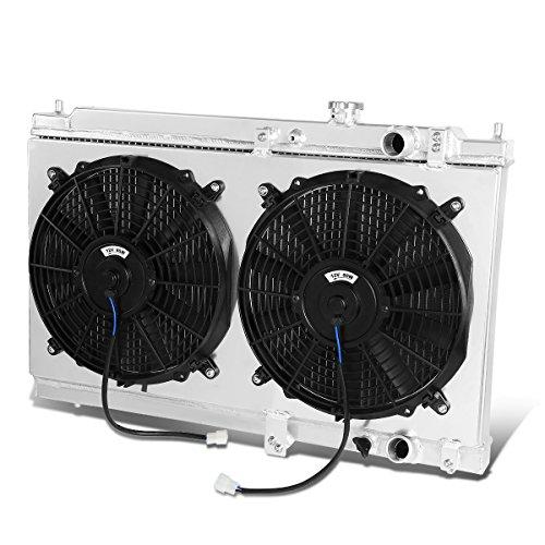Acura Integra High Performance 2-Row Dual-Core Aluminum Radiator w/ 12V Fan Shroud (Two Fans) Acura Integra Oem Radiator