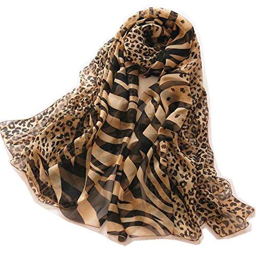 Zebra Print Silk Black Dress (Novels-wear 100%mulberry Silk Scarf Wrap Shawl Zebra&Leopard Print Brown Black Oversized 78