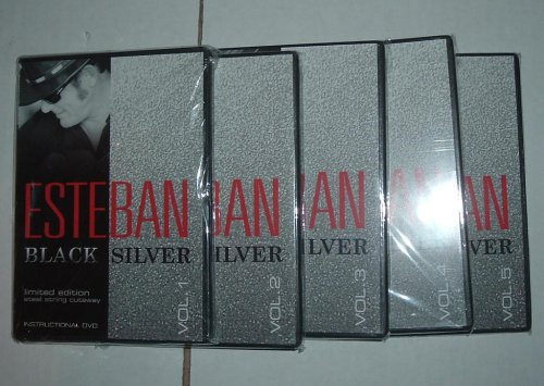 Esteban Black Silver, Limited Edition, Steel String Cutaway, Instructional DVD, Vol. 1-5