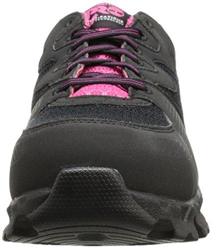 Timberland Pro Dames Powertrain Alloy-toe Eh W Industrial Shoe Zwart / Roze Microfiber En Textiel