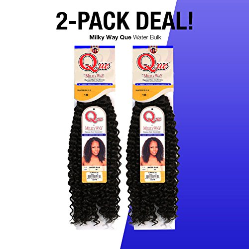 2-PACK DEALS! Milky Way Que Human Hair Braids Water Bulk (18