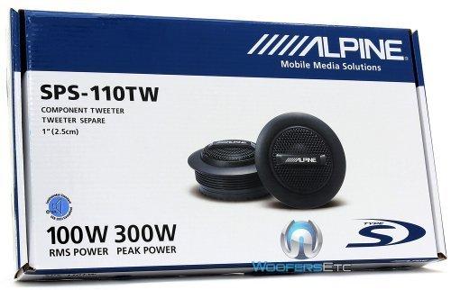"Alpine SPS-110TW Type-S 1"" silk dome tweeter (Alpine Marine Speakers)"
