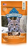 BLUE Wilderness Grain-Free Soft--Moist Chicken & Turkey Recipe Cat Treats 2-oz