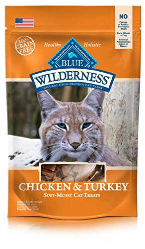 BLUE Wilderness Grain-Free Soft--Moist Chicken & Turkey Recipe Cat Treats 2-oz (Blue Cat Treats)