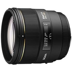 Sigma 85 mm f:1.4 EX DG HSM - Objetivo para Sony/Minolta (Diámetro: 77 mm), negro