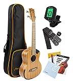 Martin Smith Sapele Wood Tenor Ukulele Starter Kit with Aqulia Strings - Includes
