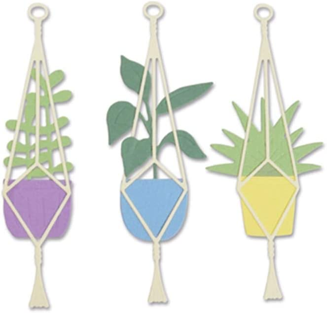 hudiemm0B Cutting Dies Hanging Potted Plant Cutting Dies DIY Scrapbook Paper Cards Album Photo Craft