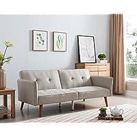 Westwood Arvika Beige Linen 77-inch Futon Sleeper Sofa