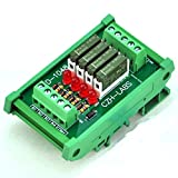 ELECTRONICS-SALON Slim DIN Rail Mount DC5V Sink/NPN 4 SPST-NO 5A Power Relay Module, PA1a-5V