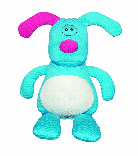 Patchwork Pet TuffPuff Doggle Squeaker Plush Dog Toy, 20-Inch