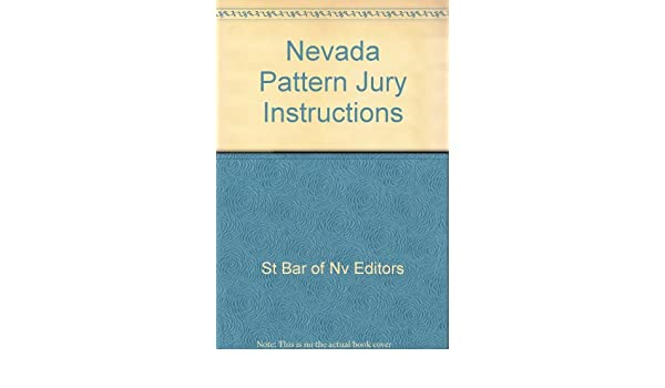 Amazon Nevada Pattern Jury Instructions 9780872159761 St Bar