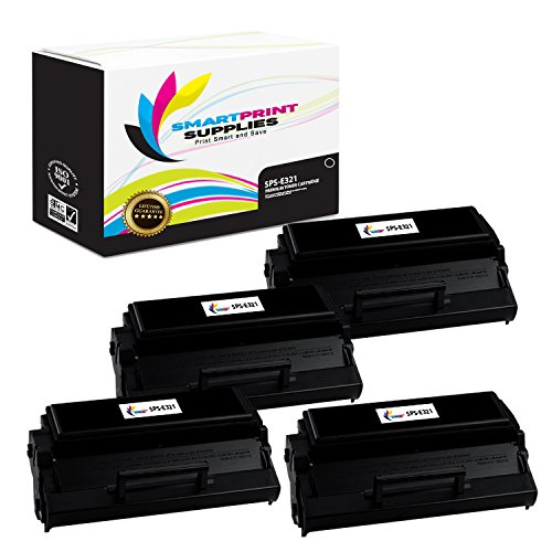 Smart Print Supplies Compatible 12A7305 Black High Yield Toner Cartridge Replacement for Lexmark E220 E321 E323 Printers (6,000 Pages) - 4 Pack ()