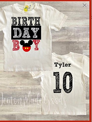 Amazon Birthday Boy Mickey Mouse Shirt With Name And Digit Handmade