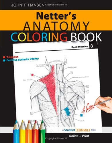 Netters Anatomy Coloring Book With Student Consult Access 1e Netter Basic Science Amazoncouk John T Hansen PhD 9781416047025 Books