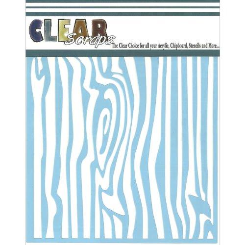 clear-scraps-cssm6-wdgrn-translucent-plastic-film-stencil-wood-grain-6-inch-x-6-inch