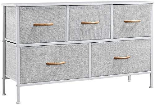 YAHEETECH 5 Drawer Dresser Organizer Fabric Storage Chest