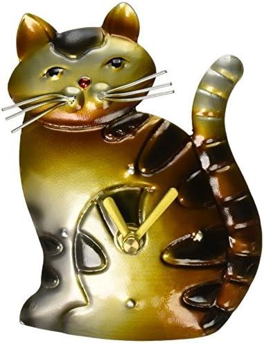 Deco Flair Cat Magnet Clock, Metal