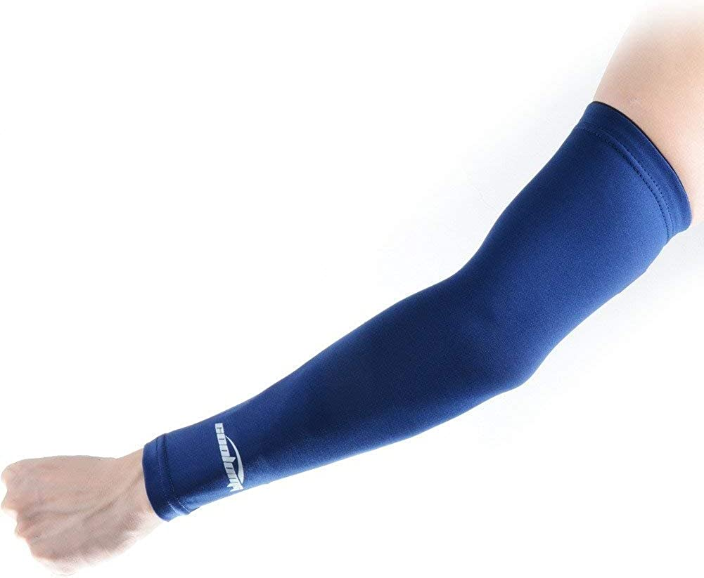 COOLOMG Compression Arm Sun Protection Non-Slip Basketball Volleyball Cycling Running Women Mens Boys Multicolour S//M XL 1/Pair