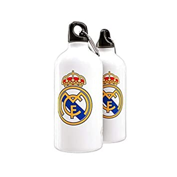 Botellin Real Madrid Blanco Escudo