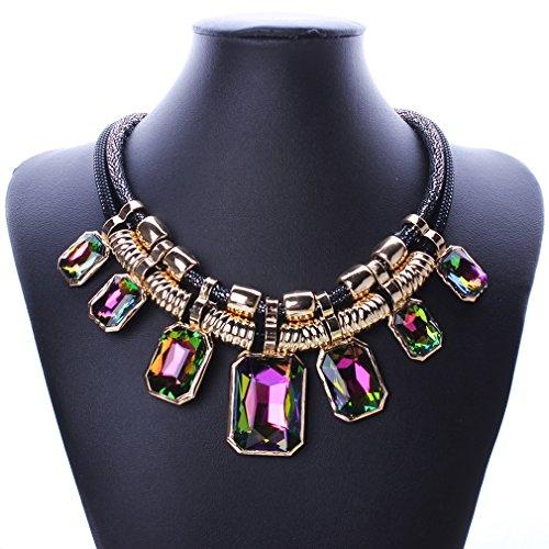 YAZILIND Pendant Crystal Statement Necklace product image