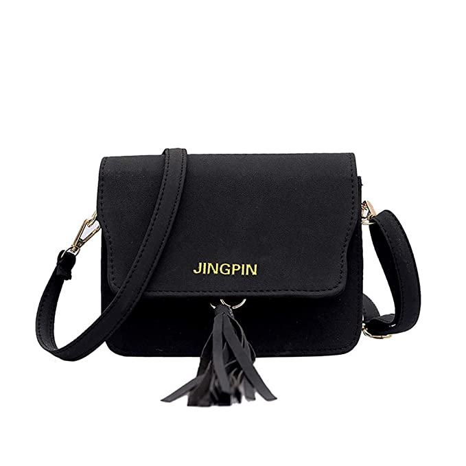 a71799b6c0 Image Unavailable. Dolloress 1x Women Wild Shoulder Bag Scrub Tassel Solid  Flap ...